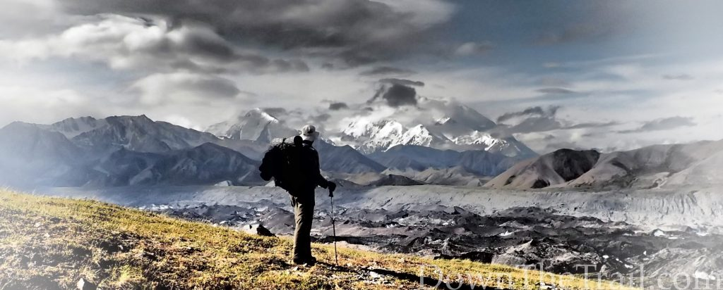 backpacker in Denali National Park