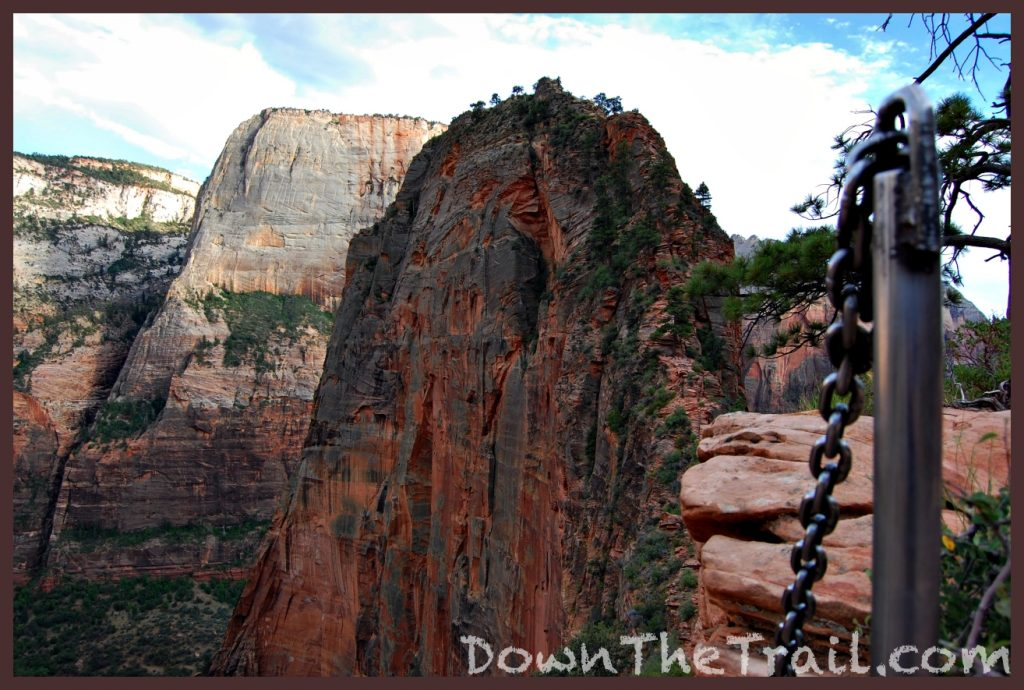 chains on angels landing, zion