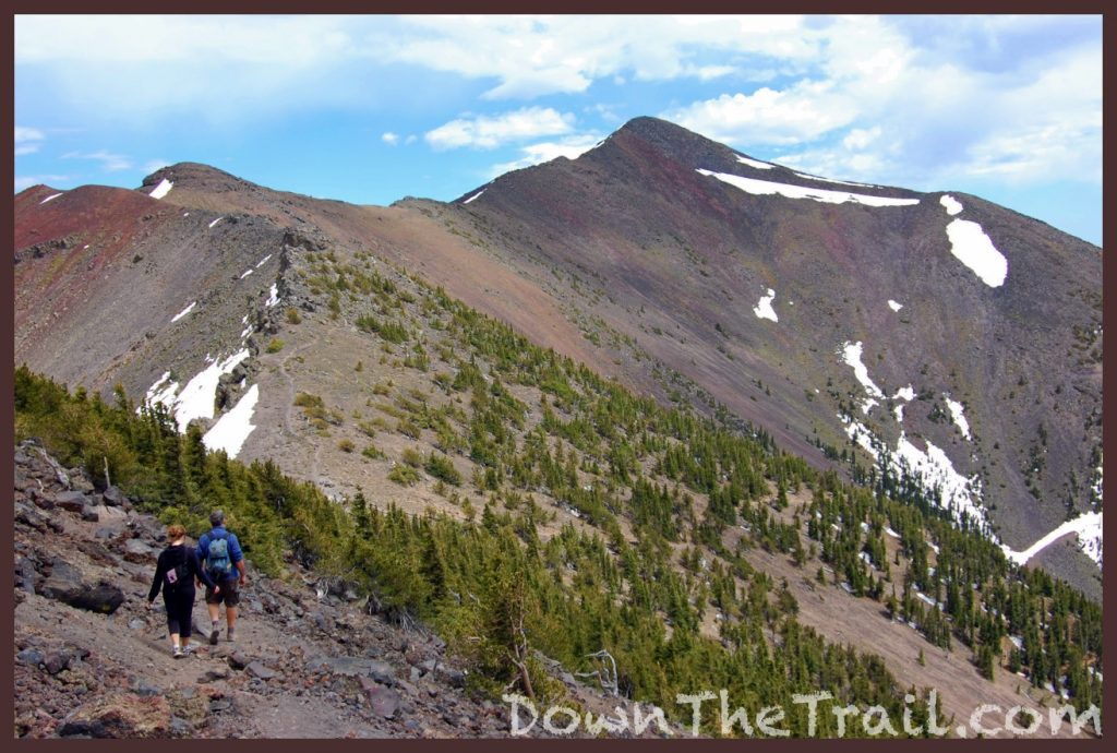 hikers approach Humphreys Peak