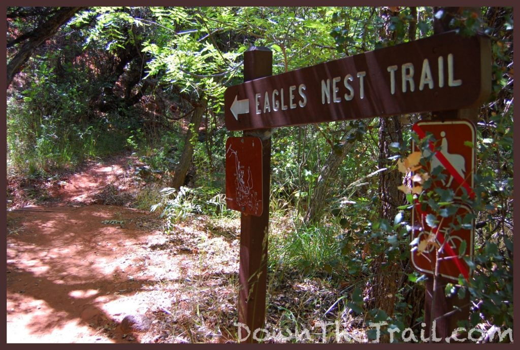 trail sign for the eagles nest