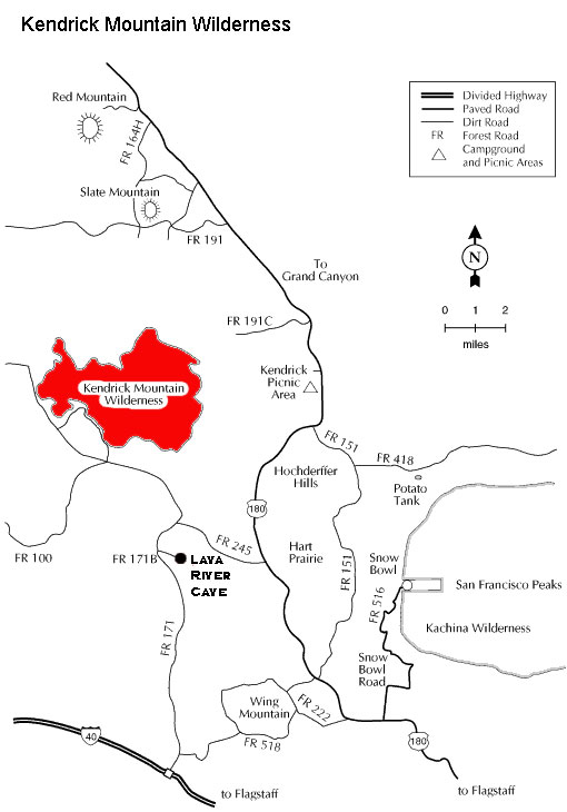 map of kendrick mountain