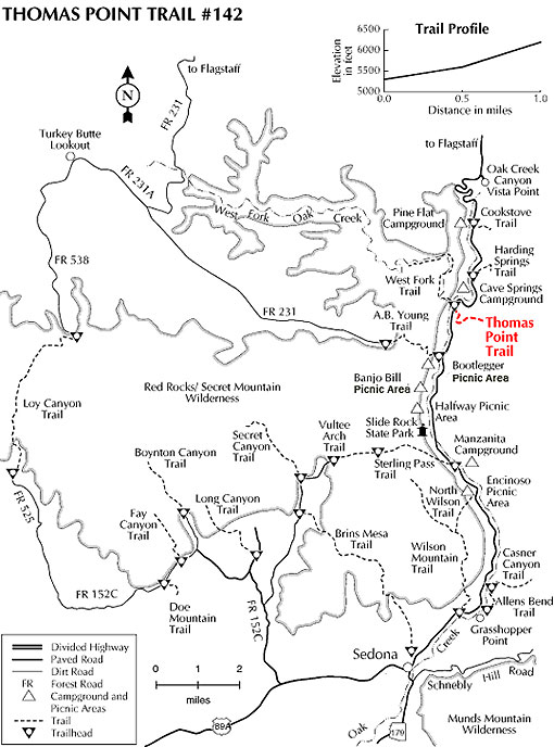 map of the thomas point trail