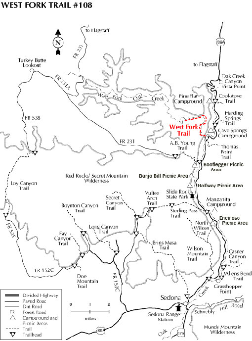 map of the west fork trail